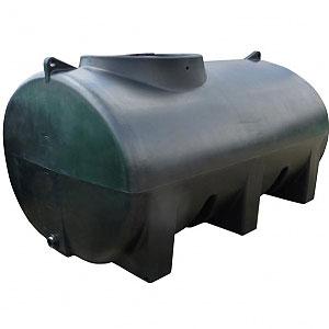 5000 Litre (1100 Gallon) Horizontal Water Tank.